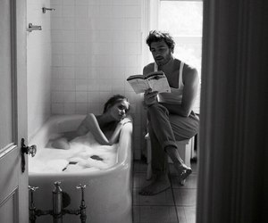 love, couple, and book image