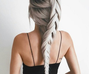 beautiful, beauty, and braided hair image