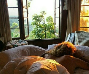 summer, paradise, and bed image