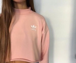 adidas, brand, and brunette image