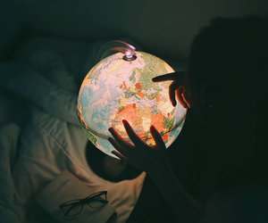 world, travel, and light image