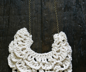 crochet, necklace, and bib image