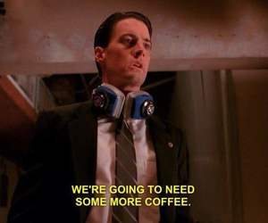 agent cooper, coffee, and need image