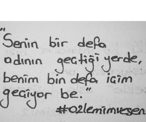 black and white, name, and turkish quote image