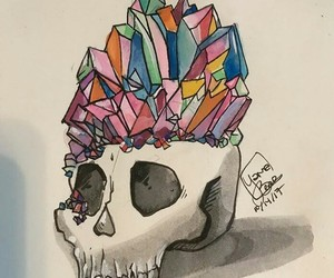 arcoiris, art, and calavera image