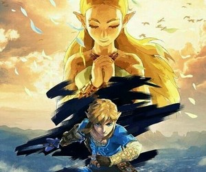link, zelda, and breath of the wild image