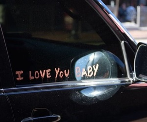 love, car, and words image