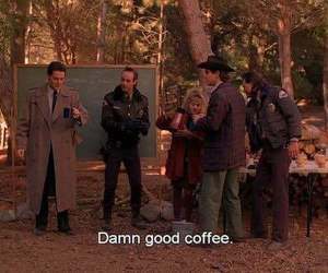 andy, coffee, and dale cooper image