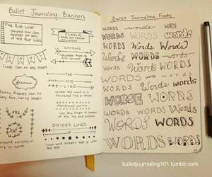 títulos, tareas, and bullet journal image