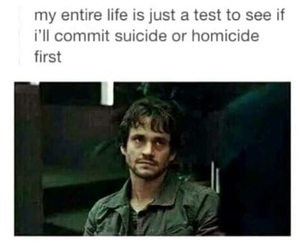 homicide, joke, and suicide image