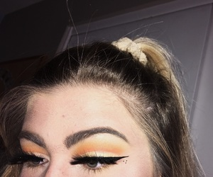 artsy, makeup, and sunset image