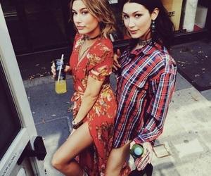 bella hadid, hailey baldwin, and fashion image