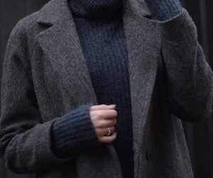 blue, fashion, and grey image
