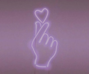 aesthetic, heart, and purple image