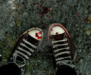 blood, aesthetic, and converse image