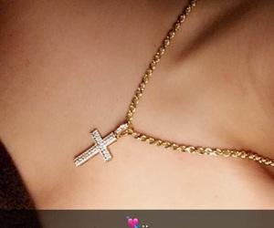 cross, jewelry, and faith image
