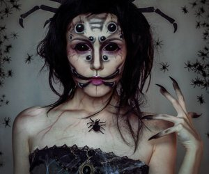 makeup, creepy, and Halloween image