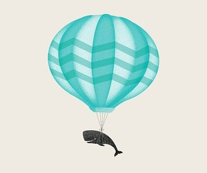 balloon, blue, and turquoise image
