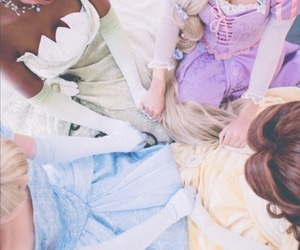 beauty and the beast, cinderella, and princess image