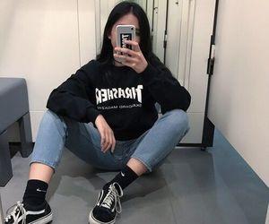 girl, fashion, and vans image