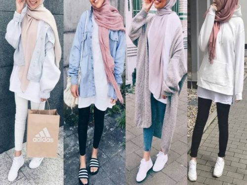 fall, hijab, and winter image