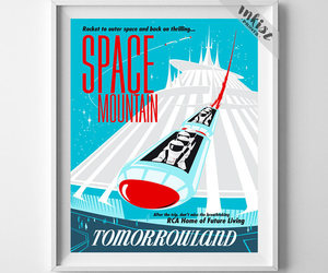 etsy, space mountain, and baby artwork image
