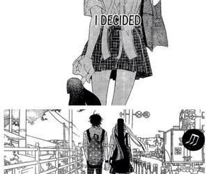 anime girl, black&white, and feelings image