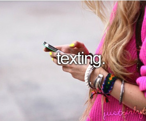 texting, text, and just girly things image