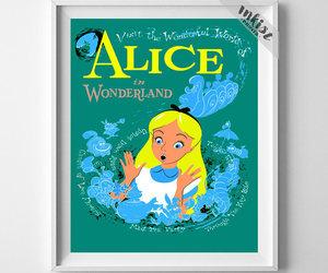 alice in wonderland, etsy, and vintage disneyland image