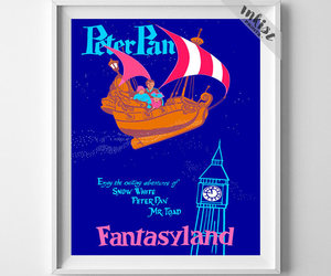 etsy, peter pan, and walt disney poster image