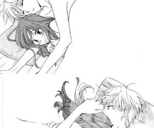 black&white, couple, and kawaii image