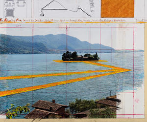 christo and jeanne claude and floating piers image