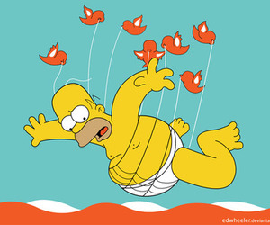 twitter, simpsons, and homer image