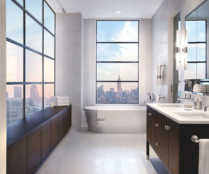bathroom, city, and home image