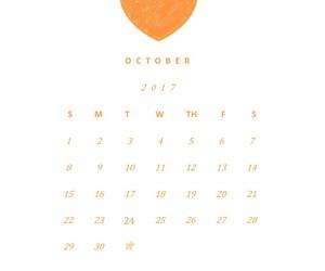 calendar, Halloween, and spiderweb image