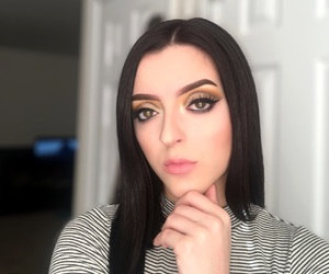 beauty, dark hair, and wing image