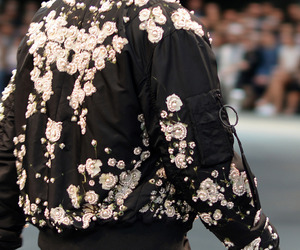 black, fashion, and flowers image