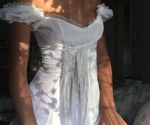 dress, white, and aesthetic image