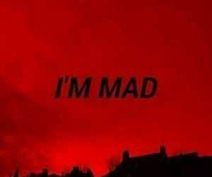 red, aesthetic, and mad image