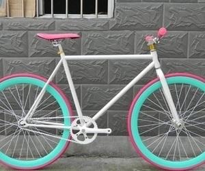 bicicleta, turquesa, and pink image