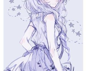 anime girl, fashion, and flowers image