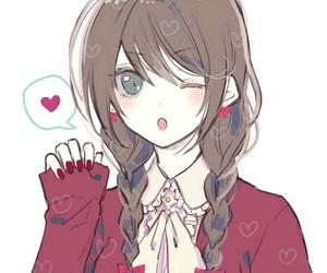 anime girl, fashion, and braids image