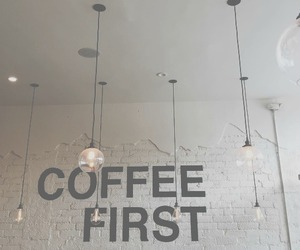 black and white, urban, and coffee image