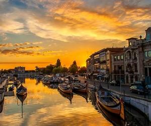 portugal, aveiro, and sunset image