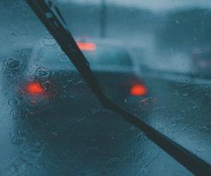rain, car, and light image