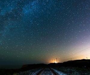 night, night sky, and stars image