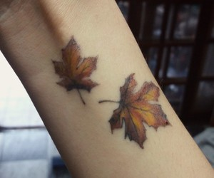 arm, autumn, and beauty image