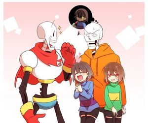 papyrus, chara, and frisk image