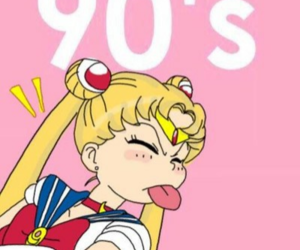 wallpaper, 90s, and sailor moon image