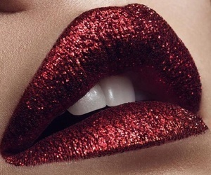 glitter, makeup, and lips image